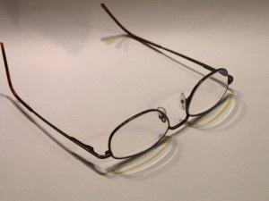 verlegte Brille