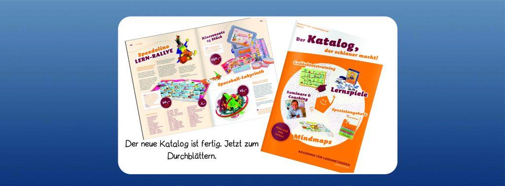 Das Bild zeigt den neuen Katalog der Lernwerkstatt